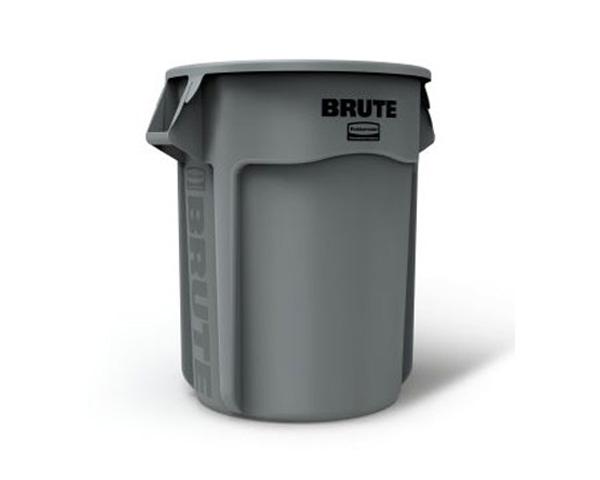 """GRAY BRUTE® Container without Lid 26.39"""" dia x 33"""" h 55 gal 52.9 lb 67.03 cm dia x 83.82 cm 208.2 L 24 kg"""