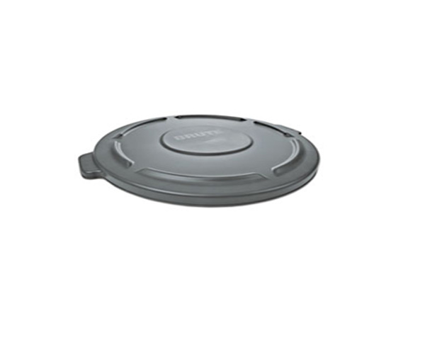 "GRAY Lid for 55-Gallon BRUTE® Container 26.95"" dia x 2.93"" h 11.6 lb 68.45 cm dia x 7.44 cm 5.3 kg"